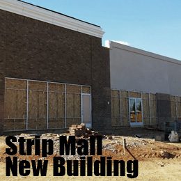 strip mall new building